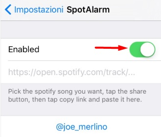 SpotAlarm cydia tweak for spotify