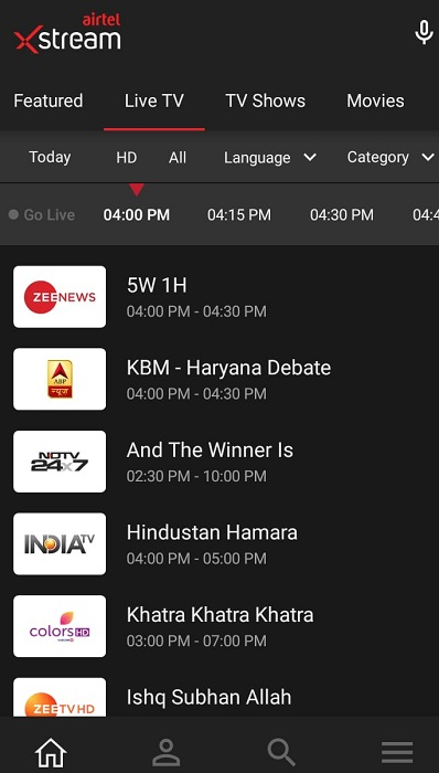 download Airtel Xstream Apk for Smart TV