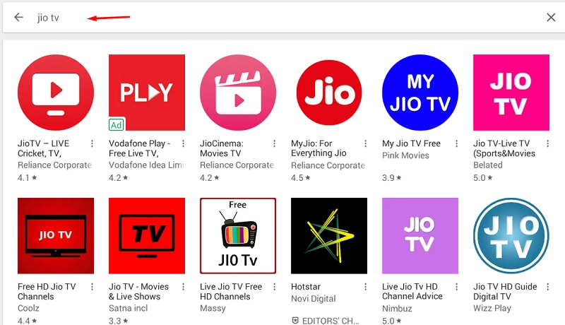 jio tv app for pc