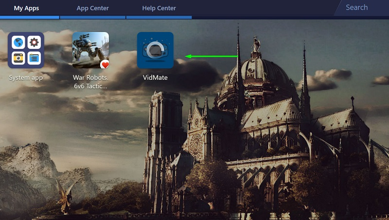 Installing vidmate apk on PC