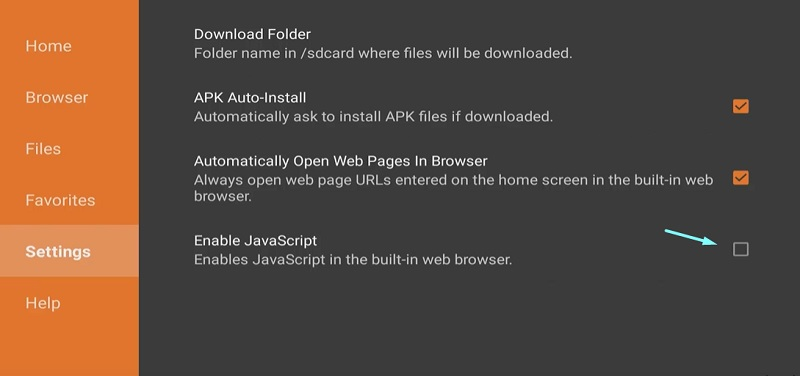 Enable Javascript In the Downloader