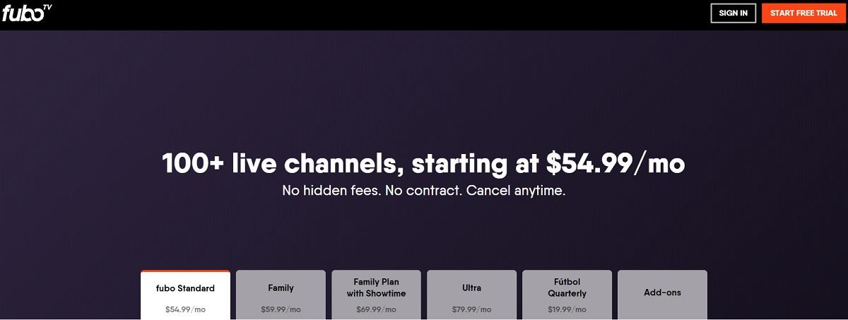 fubo TV Plans