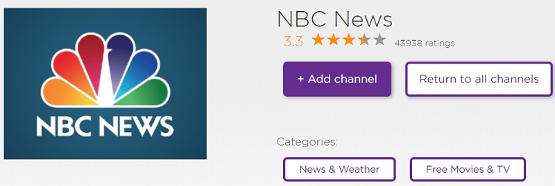 Watch MSNBC live on Roku With NBC News