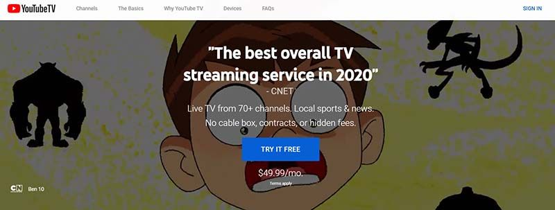 why is youtube tv not available in canada