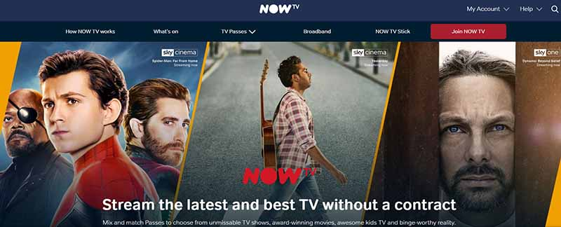 Sign Up for NOW TV